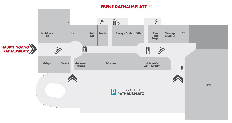 City Center Gersthofen Centerplan E1