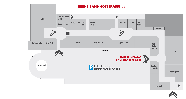 City Center Gersthofen Centerplan E2